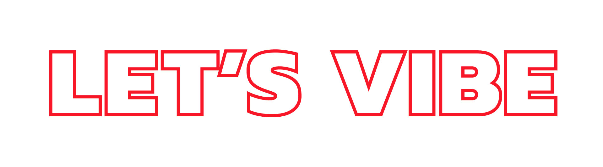 Lets vibe Red Vibes design